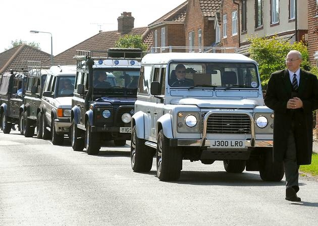 Land Rover Funerals 4X4 hearse and Limousine